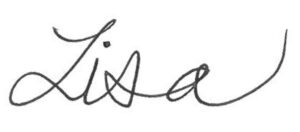 Counselling with Lisa personalized signature