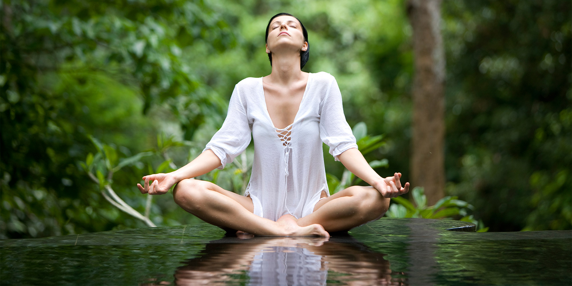 Woman practicing mindfulness and meditation